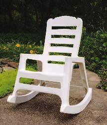 "75""H PATIO BENCH Stackable and sturdy resin bench is UV protected to prevent color"