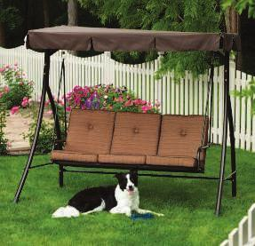 "Canopy for shade is included - now it's naptime! Supports 750 lb. 801142 $369.99 Seat 48""D x 18""H Overall 89""W x 79""H B."