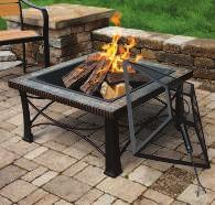 , 50,000 BTU propane tank that lights up lava rock in a stainless steel burner, providing an inviting glow for you and your guests.
