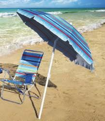BEACH CHAIR CANOPY Clips to any beach chair frame to provide sun protection. SPF 100+ and Total Sun Block technology.