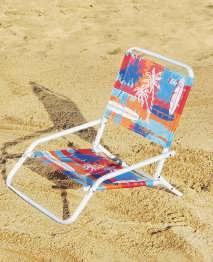 7-POSITION HI-BOY BEACH CHAIR Ideal for the sidelines at a soccer game or basking on the beach.