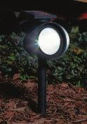 "17""H. Black. 521795 $12.99 A B C D E. MINI SOLAR LIGHT Stainless steel stake and plastic lens. 10"" H. 500609 $2.99 F. SOLAR PATH LIGHT Black stakes with plastic lenses."