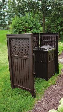 conceal refuse cans, or cover mechanical equipment. Includes 5 steel anchoring posts. 700093 $119.