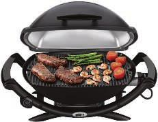 800745 $169.00 Model #50060001 B. Q 2400 ELECTRIC GRILL 280 sq. in. cooking area, 1560 watts-120 volts.