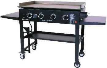 Calibrated top vent for smoking or grilling. Easy clean out ash drawer. Heavy duty locking casters. High quality ceramic all-weather grill. 800426 $899.