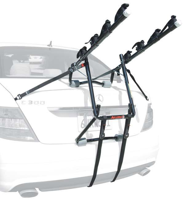 TRUNK MOUNTED 103DN DELUXE 3-BIKE TRUNK MOUNTED CARRIER 15 Long Carry Arms Easily Accommodate A Wide Range Of Bicycle Styles 11.