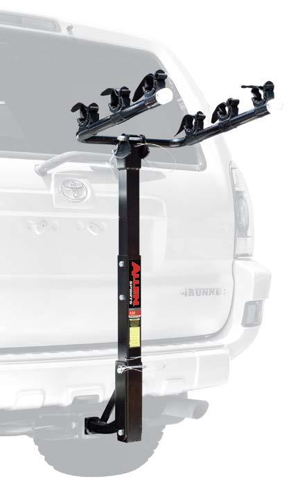 HITCH MOUNTED 522RR DELUXE 2-BIKE 1 1/4 & 2 HITCH MOUNTED CARRIER Hitch Insert Fits Either 1 1/4 Or 2 Receiver Hitches.