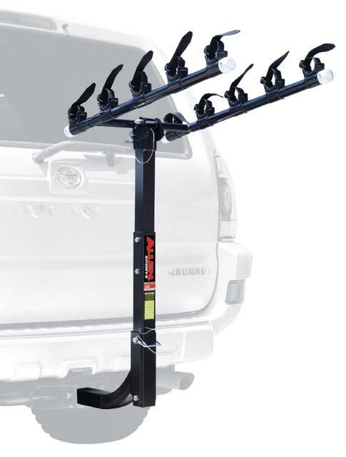 HITCH MOUNTED HITCH MOUNTED DELUXE 4-BIKE 2 HITCH MOUNTED CARRIER 542RR Carry Arm Spacing Accommodates A Wide Range Of Frame Sizes And Designs.