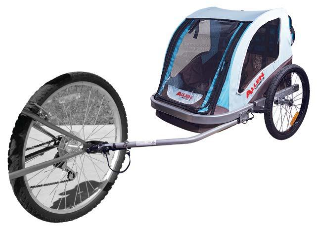 Includes Adjustable Jogger Handle And Fixed Wheel Jogger Kit. 20 SST1 DELUXE 2-BIKE 1 1/4 & 2 HITCH MOUNTED CARRIER Lightweight Steel Construction Trailer.