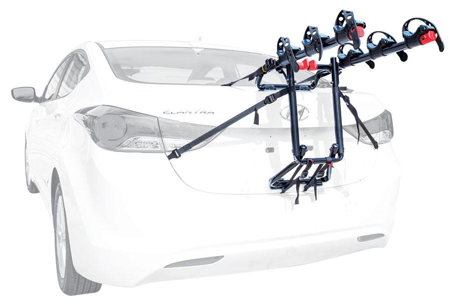 TRUNK MOUNTED PREMIER 3 BIKE TRUNK MOUNTED CARRIER S103 Quick Set 16 Long Carry Arms SNAP Into Place Right Out Of The Box. Rack Can Be Folded Down With One Hand. 11.