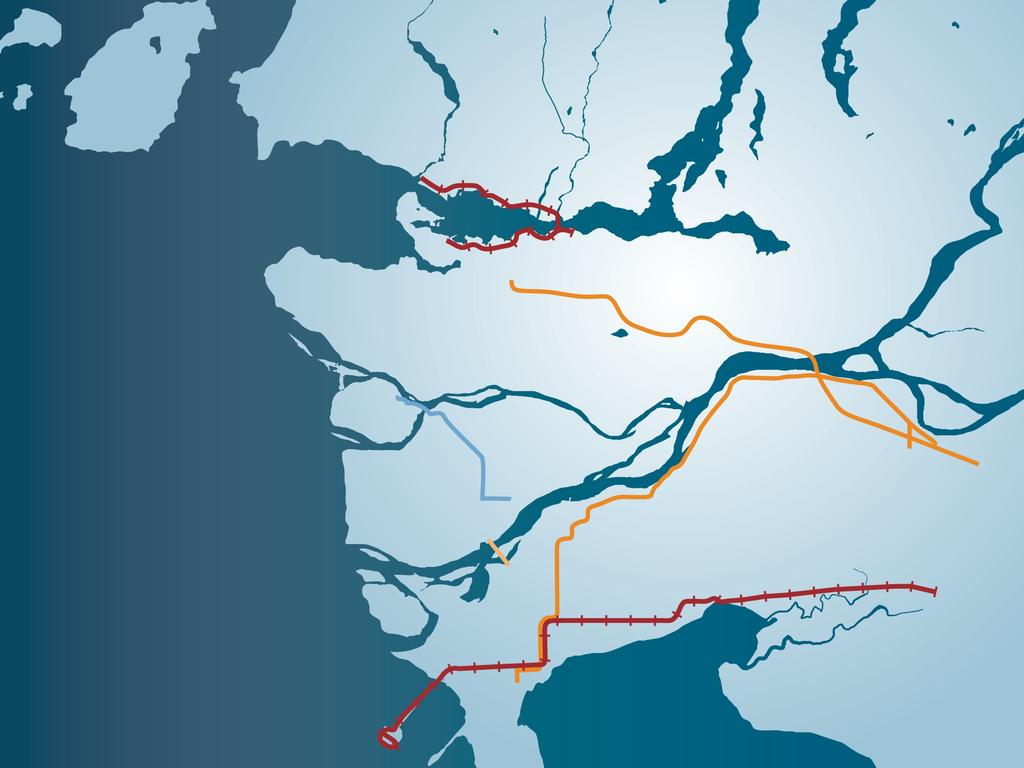 Overview of gateway capacity investments Regional road network investments (Provincial and Federal) Current: Port Mann Bridge and South Fraser Perimeter Roads (SFPR) ($5B) Future: George Massey