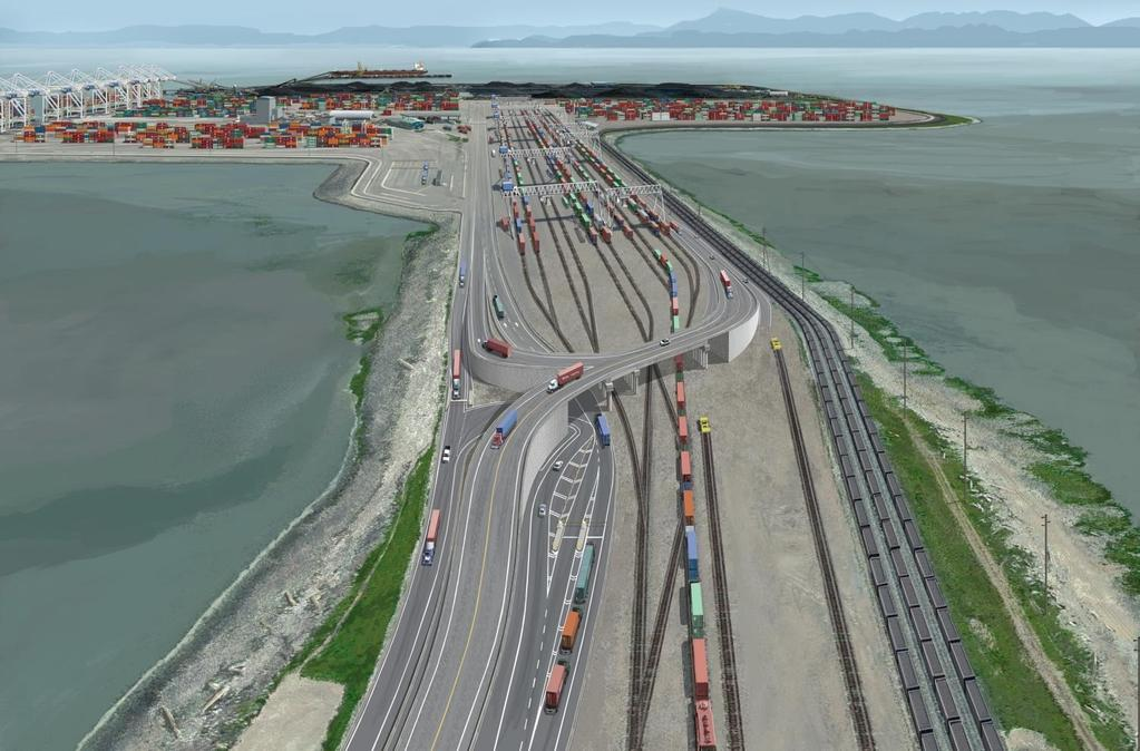 DELTAPORT TERMINAL, ROAD AND RAIL IMPROVEMENT PROJECT (DTRRIP) Increase capacity to 2.