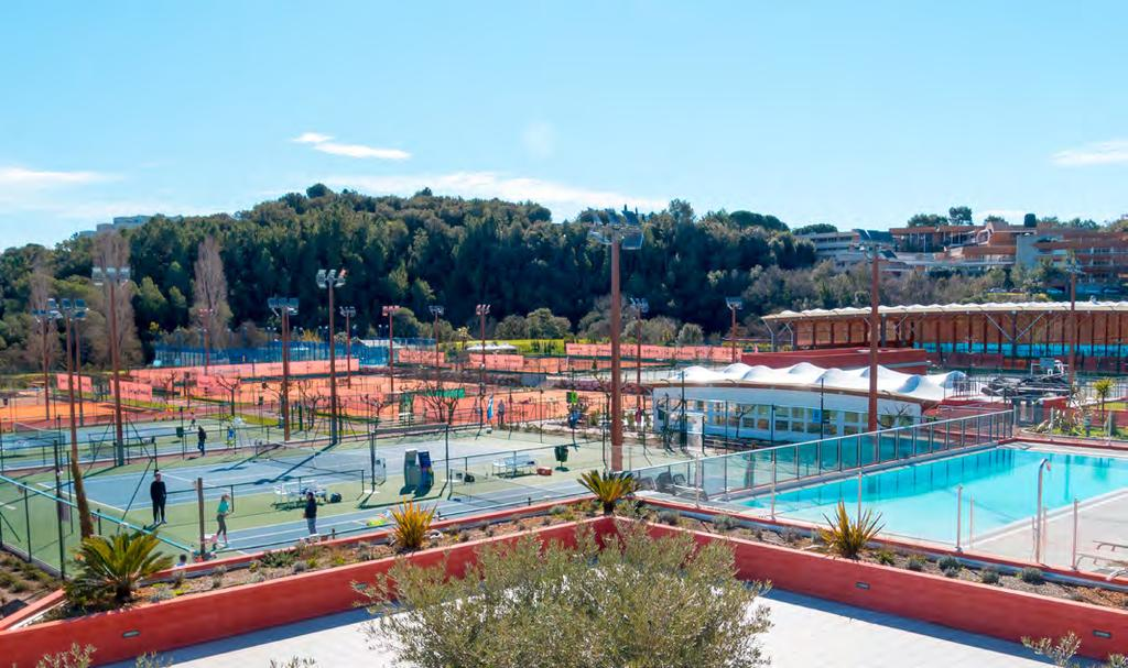 Mouratoglou Tennis Academy The Mouratoglou Tennis Academy provides state of the art sporting infrastructures.