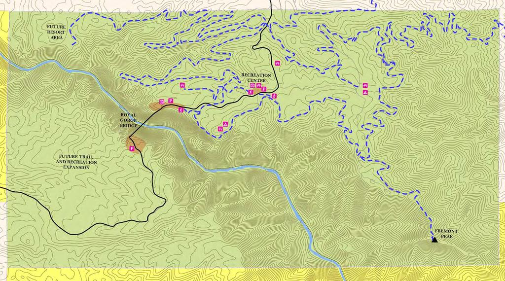 Royal Gorge Recreation Area Concept Trail Plan Trail Connection to Cañon City