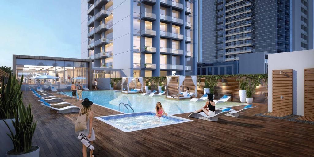 Spectacular POOL DECK Surrounded by the cityscape of dreams, the stunning,