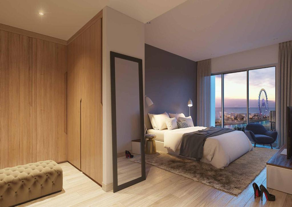 The BEDROOMS The efficiently designed bedrooms feature intelligent