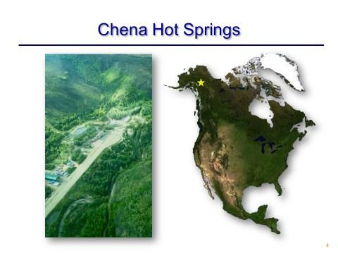 Proceedings World Geothermal Congress 2015 Melbourne, Australia, 19-25 April 2015 An Example of Small Scale Geothermal Energy Sustainability: Chena Hot Springs, Alaska Mink, Leland; Karl, Bernie; and