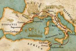 Hannibal crosses the Alps 247-182 BC Early years Hannibal Barca was born in Carthage, North Africa, (now a suburb of Tunis, Tunisia) in 247 BC.
