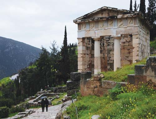 Parnassus, Delphi was the sanctuary of the influential Delphic Oracle and was considered by the ancient Greeks to be the center of the world.