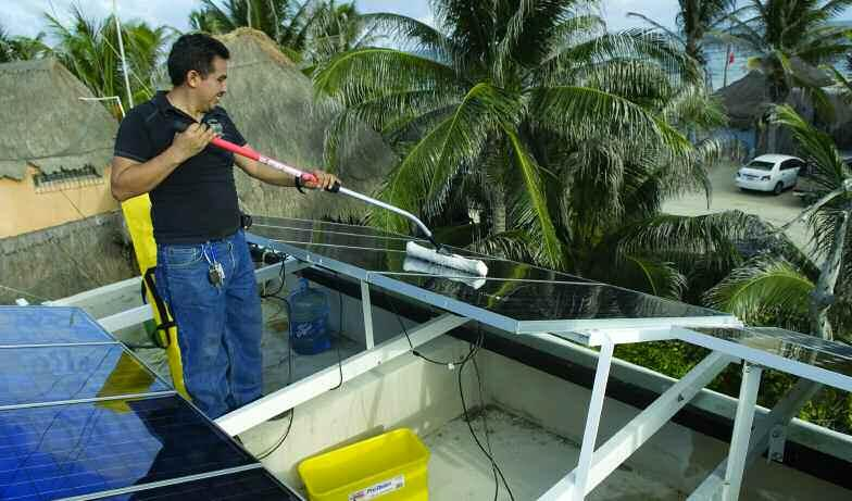 SOLAR PANEL CLEANING SYSTEM Maintaining a clean surface on your solar panels is