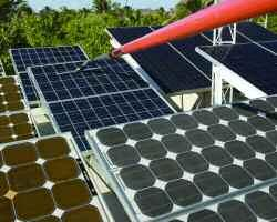 The ProCurve Solar system is designed to clean solar panels faster, safer, easier