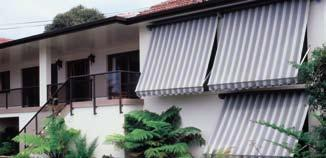 The different models available include fabric fixed frame awnings, roll up fabric awnings and static aluminium awnings.