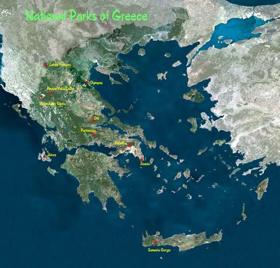 National Parks The most important category of protected areas in Greece is the National Parks, which include forest nature areas with scientific and ecological interest and are under strict