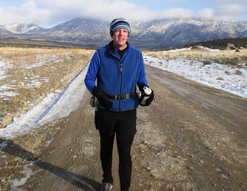 For another Loopy cold weather training run, I ran all the way around the southern Oquirrh Mountains in Utah, about 100K, which consisted of about half pavement and the rest dirt road.