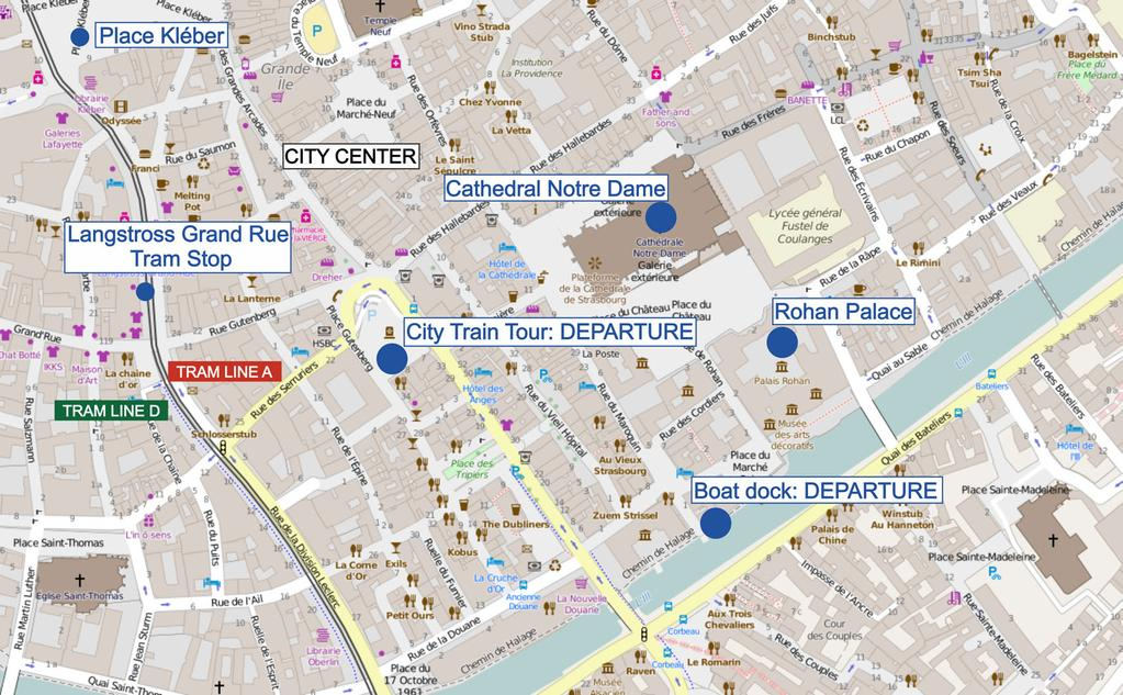MAPS How to reach the Boat Trip and City Train Tour