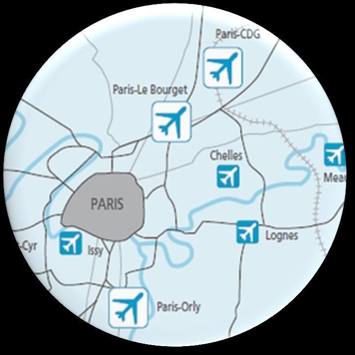 The Aéroports de Paris airport system is the only one of its kind in Europe Paris-Le Bourget > Largest business airport in Europe > Industrial and aeronautical area >