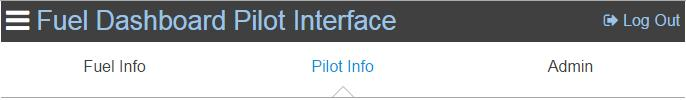 Pilot Interface Pilot Info Distribution of
