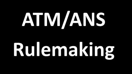 ATM rulemaking -