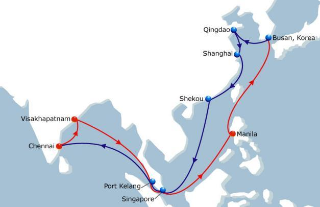 CIMEX - China India Middle East Express 2E Asia - India Vessel Fleet 5 Ports of Call 10 Duration 35 New Direct access to India East Coast ex Asia CIMEX 2-E starting from 31/01/2015 Current fleet size