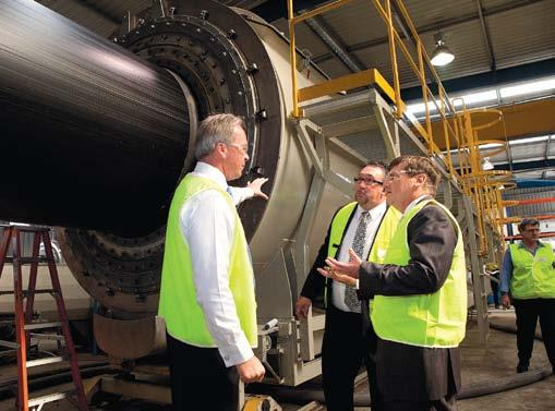 WA Companies Helping Build Gorgon panies Playing a Vital of the Gorgon Project Investing in World-Class Technology Helps Bring Contract Success to WA-Based Manufacturer Pipe manufacturer and