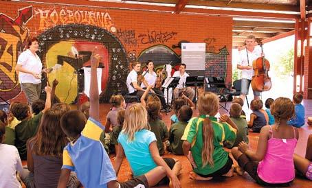 The communities of Onslow and Roebourne enjoyed a free concert recently when musicians Rebecca White (violin), Oliver McAslan (cello), Nik Babic (viola) and Cerys Tooby (violin) toured the Pilbara
