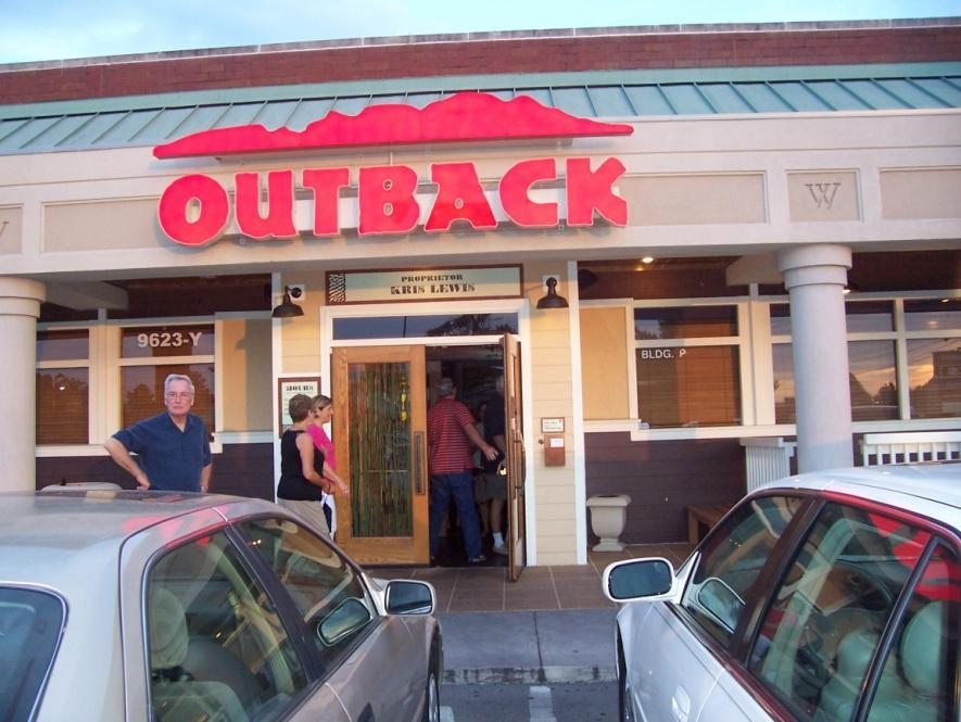 Deciding on OutBack, we took everyone in two cars down the road to OutBack where we had