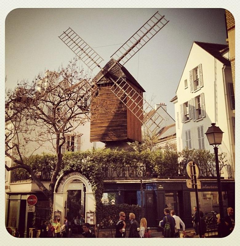 Stop at the Sacre-Cœur, and go to the little village where the Moulin de la Galette still stands.