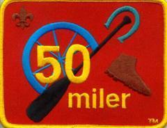 50-miler Afoot or Afloat Cover a distance of not less than 50 consecutive miles Take a minimum of 5 days to cover the 50 miles (without the aid