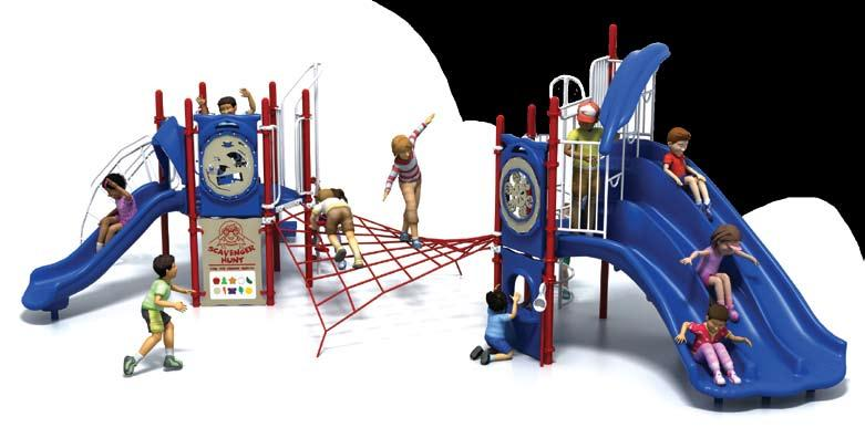 PSS-910 Challengers 7,425! 9 17,349 19,799 List: 24,774 Fun-Filled Play Events... 12 Capacity...Up to 45 children ages 5-12 Size... 33 x 18 x 12 (10,1m x 5,4m x 3,7m) Use Zone.