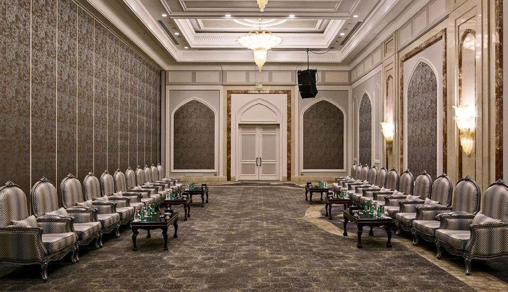 AL MIRQAB BALLROOM GARDEN TERRACE SECOND-FLOOR FUNCTION ROOMS I AL MIRQAB PRE-FUNCTION II II I AL MIRQAB BALLROOM Use our grand ballroom as one large venue, or let us divide it into two or three