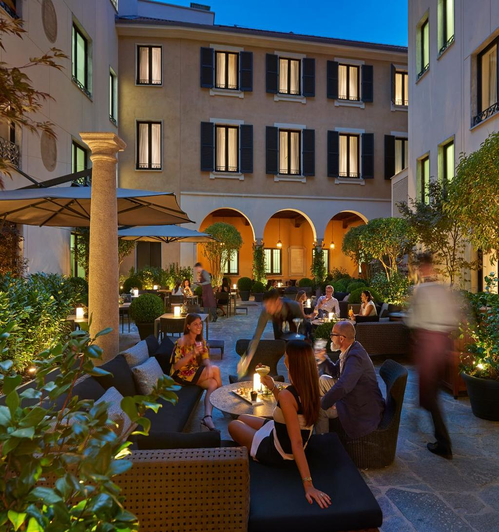 A TASTE OF MODERN ITALY Mandarin Oriental, Milan offers guests flavors that thrill with traditional Italitan meals and a