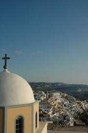 century. Churches As is the case throughout the Cyclades, Santorini is abundant with more than 250 churches of all shapes and sizes.