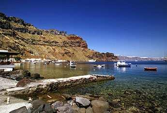 In recent days they have also been discovered by visitors to the island Katharos Beach Katharos beach can be found by driving towards Ammoudi Port. It is quiet, with black pebbles & stones.