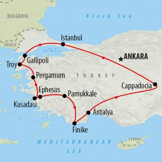 HIGHLIGHTS AND INCLUSIONS Trip Highlights Istanbul - Sultanahmet/ old Istanbul, Hippodrome, Blue Mosque, Hagia Sofia, Underground Cistern and Topkapi Palace Gallipoli Peninsular - ANZAC Cove,
