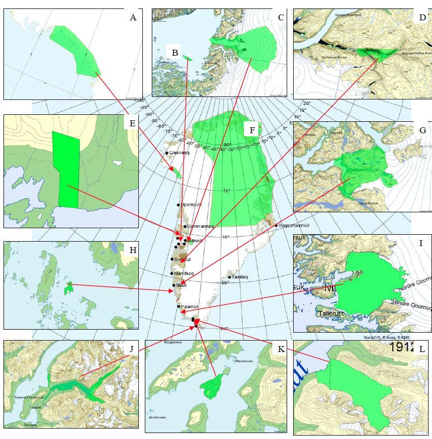 Currently protected areas The dilemma of protected areas in Greenland New approach