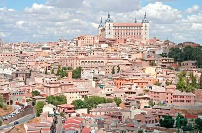 & Toledo Full-Day Tour Toledo Panoramic View Alcázar Bridge over Río Tajo One hour away from Madrid, the