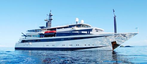VARIETY VOYAGER The Variety Voyager is a state-of-the- art yacht that accommodates just 72 passengers in 36 cabins.