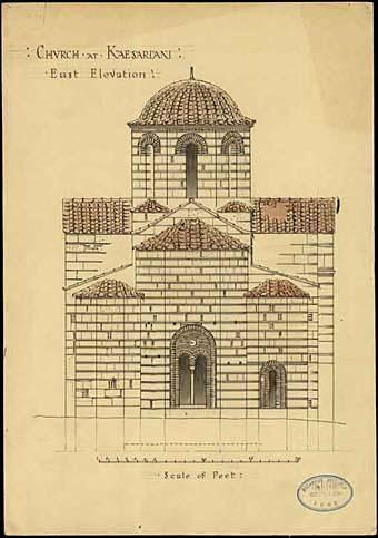 Middle Byzantine period: A new architectural type In the 11 th century new churches are built all over Attica in a new architectural type, the cross-in-square church, which obtains its own traits in