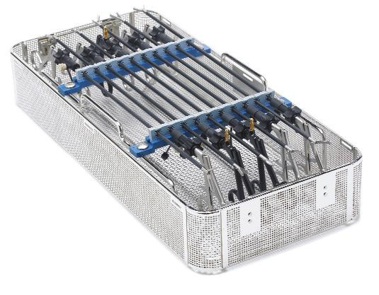 Rack fits inside Full-Size perforated or wire basket and allows ample storage underneath for other instruments and auxiliary items.