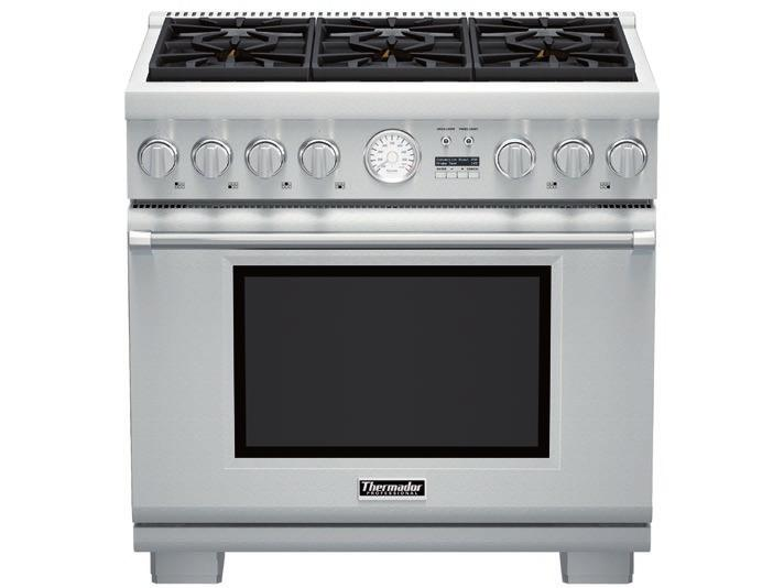Also Available: PRL366JG - LP FEATURES & BENEFITS - Patented Pedestal Star Burner with QuickClean Base designed for easy surface cleaning and superior heat spread for any size pan - Powerful 22,000
